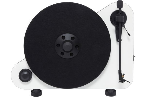 PRO-JECT - Platine vinyle VERTICAL TURNTABLE E OM5 DROITIER BLANC