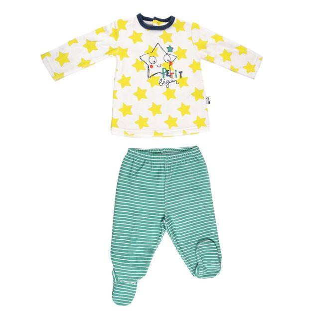 48c76d0ad32aa Petit Beguin - Pyjama velours bébé garçon Illico - Taille - 18 mois (86 cm