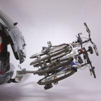 Porte-vélo plateforme, basculable sur attelage 3 vélos A007P3RA, fixation sur boule d'attelage