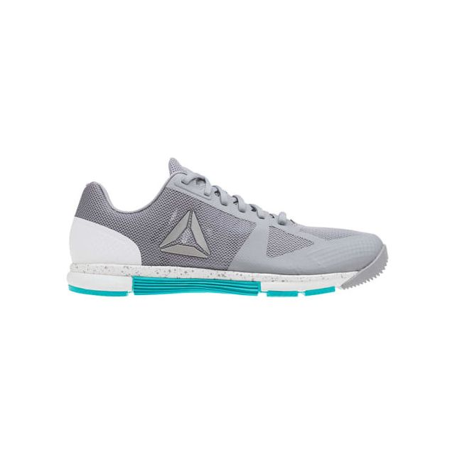 6e4f8fd945f Reebok - Chaussures CrossFit Speed Tr 2.0 gris blanc turquoise femme - pas  cher Achat   Vente Chaussures fitness - RueDuCommerce