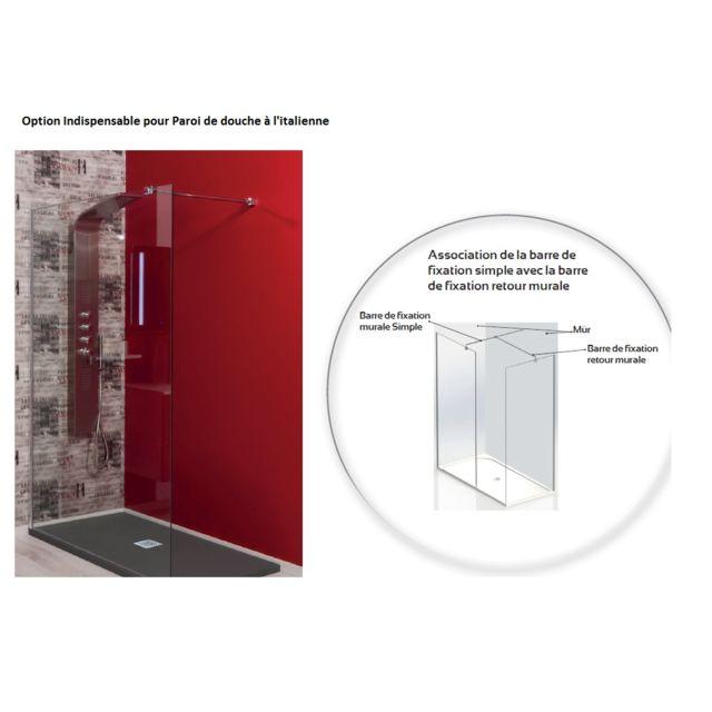aqua barre de fixation plafond pour paroi de douche l 39 italienne pas cher achat vente. Black Bedroom Furniture Sets. Home Design Ideas