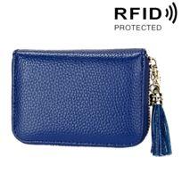 Bleu Porte Cartes de Cr/édit Cuir RFID pour Les Femmes Homme avec 13 Fentes pour Cartes et 2 Compartiments pour Pi/èce dargent Porte-Cartes de Visite Porte-Case Porte Monnaie