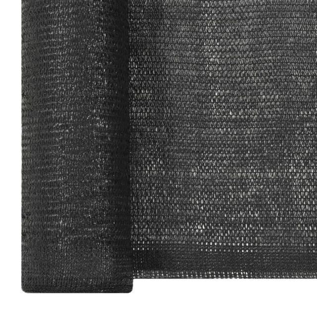 vidaXL Filet Brise-Vue PEHD 2x10 m Noir Pare-Vue de Jardin Terrasse Balcon