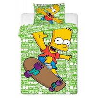 The Simpsons - Parure de lit Bart Simpson Skate-Board Green