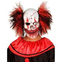 Widmann S.R.L. - Masque clown méchant avec cheveux adulte