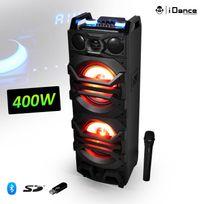 "IDance - Enceinte karaoke à Leds Rvb 2x12"" 400W 4 voies - Usb/SD/BT + Micro Vhf - Mixbox2000"