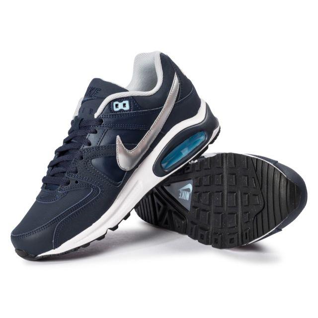 Nike Air Max Command Bleu Et Argent Baskets pas cher