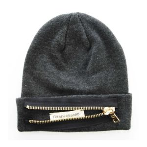 The New Designers , Bonnet Zip Gris foncé Gold