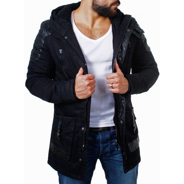 c9b212151c866 Beststyle - Manteau long hiver homme noir matelassé stylé - pas cher ...