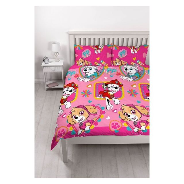 Pat patrouille parure de lit double together pas cher achat vente linge de lit enfant for Parure lit double