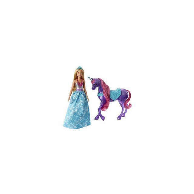 Mattel barbie dreamtopia princesse et licorne pas cher - Barbie licorne ...