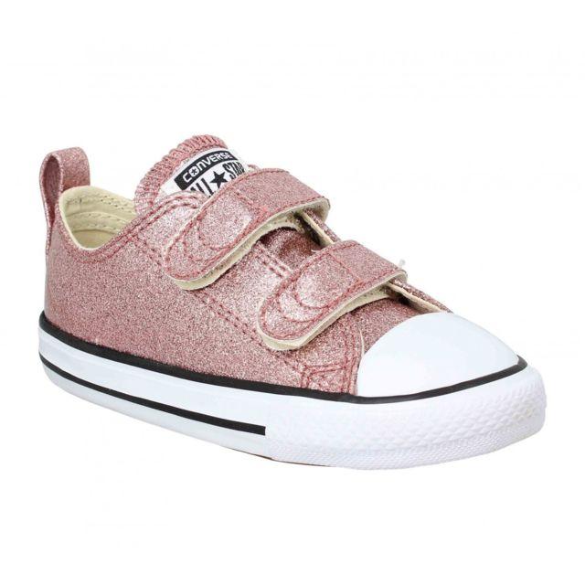 48456b880b8b5 Converse - Chuck Taylor All Star 2V paillettes Enfant-26-Rose - pas ...