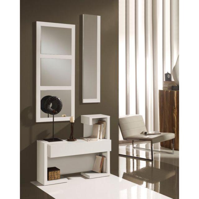 tousmesmeubles meuble dentre blanc laque miroirs paris