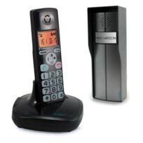 Avidsen - Interphone audio sans fil fonction téléphone portée 200m noir