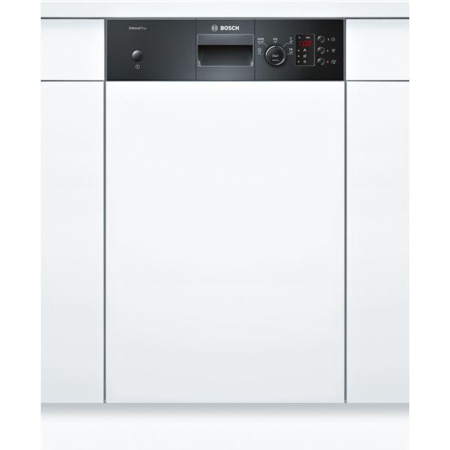 Bosch lave-vaisselle 45cm 9c 46db a+ intégrable avec bandeau noir - spi25cb03e