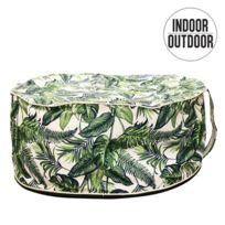 Diam The Home Deco Factory Pouf de Jardin Gonflable Design Jungle Lola 56 cm Vert