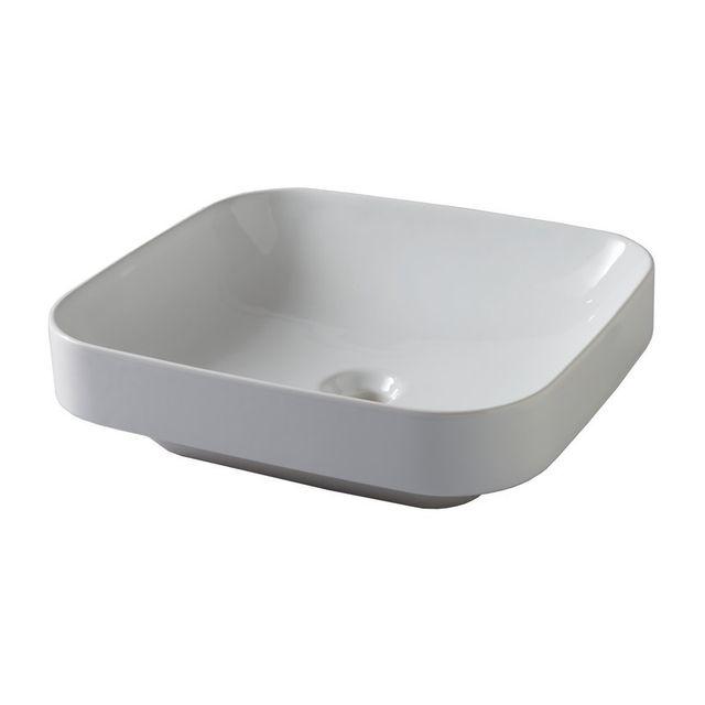 Vasque Moderne azura - vasque à poser blanche moderne 45x40 stromboli - pas cher