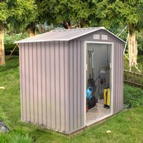 CONCEPT USINE - Sancy 2.71 m² : abri de jardin en metal anti-corrosion gris