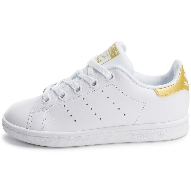 aa797e13c6c Adidas originals - Stan Smith Enfant Blanche Et Or - pas cher Achat ...