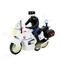 John World - Moto de police sonore et lumineuse et policier