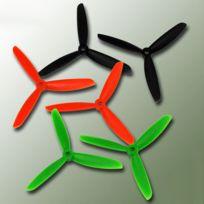 Gemfan - Hélice tripale fibre CCW Anti-Horaire, 5x4.5 Orange 2 pcs