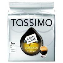 Bosch - Café Carte Noire Expresso dosette machine Tassimo - paquet de 16