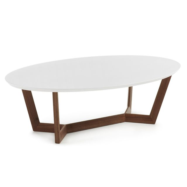 Kavehome Table basse Wave, noyer et blanc