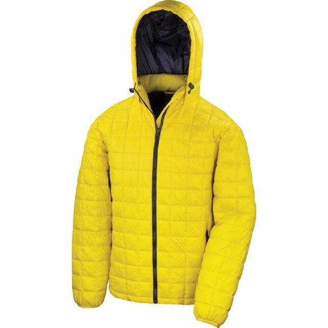 RESULT Doudoune à capuche homme R401X jaune pas cher
