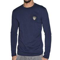 Armani - Ea7 - Tee Shirt Ml - Homme - 6xpt83 Ecusson - Navy