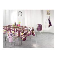 Douceur D'INTERIEUR - Nappe en polyester 150 x 240 cm macaron prune
