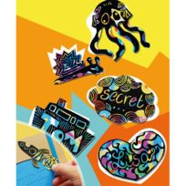 Au Sycomore - Pochette créative : Scratch Art Stickers