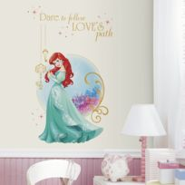 Roommates - Stickers géant Love Ariel La Petite Sirène Princesse Disney