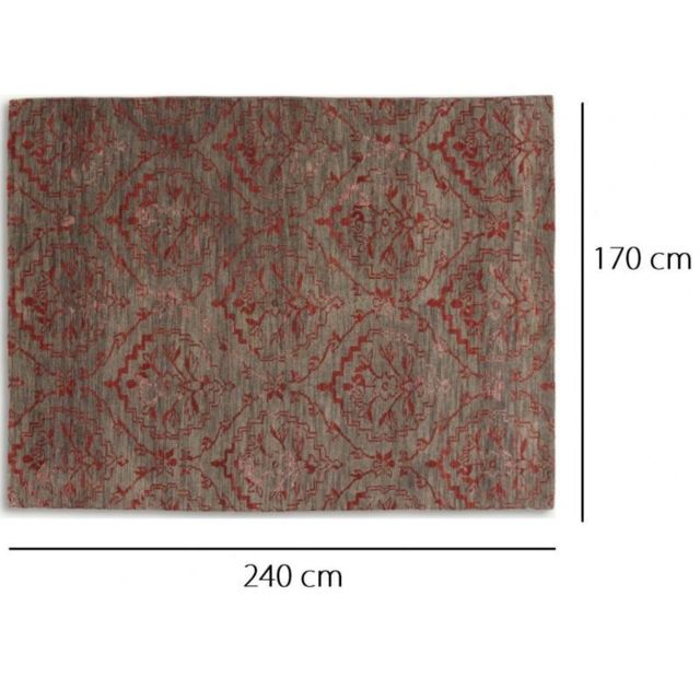 Inside 75 - Basanti Tapis laine rouge taupe 170x240 cm N/A