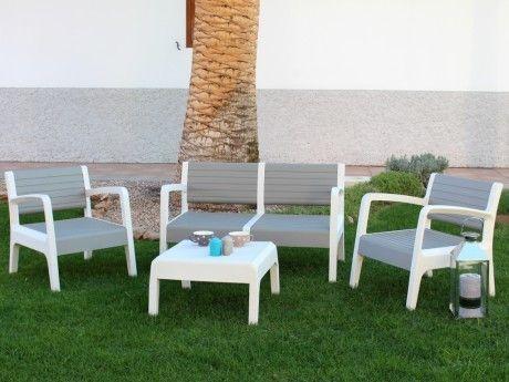 Marque Generique - Salon de jardin Miali en Pvc : 2 ...