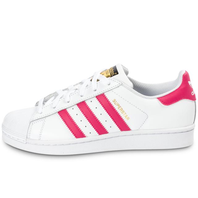 2195bea4db881 Adidas originals - Superstar Foundation Blanche Et Rose - Baskets/Tennis Femme  36 2/3 - pas cher Achat / Vente Baskets enfant - RueDuCommerce