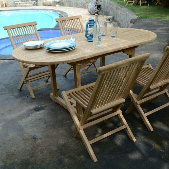 Teck\'ATTITUDE - Salon de jardin en teck Ecograde Hawai ...