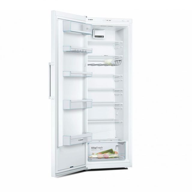 bosch r frig rateur frigo simple porte blanc 324l a froid brass bac l gume vitafresh. Black Bedroom Furniture Sets. Home Design Ideas