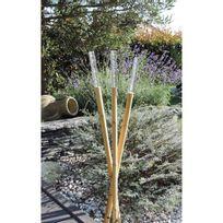 Mundus - Guirlande de 3 bambous Loodus H75 cm - Marron