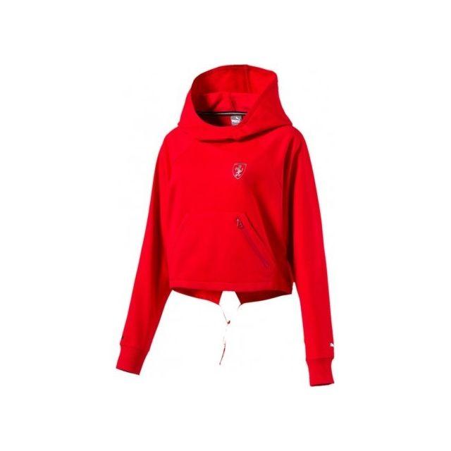 regard détaillé beau look chaussures de course Puma - Ferrari Hoodie Femme Sweat Rouge Multicouleur - XS ...