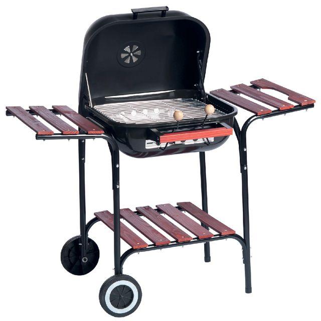 maison futee barbecue avec couvercle acier 79x57x100 cm pas cher achat vente barbecues. Black Bedroom Furniture Sets. Home Design Ideas
