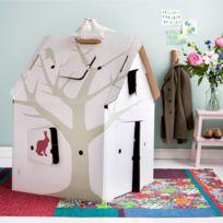 Kidsonroof - Cabane Carton Casa Cabana Décorée