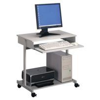 Durable - Table informatique à roulettes - 2 tablettes - métallisé et gris