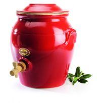 Digoin Ceramiques - Vinaigrier en grès 4L Rouge