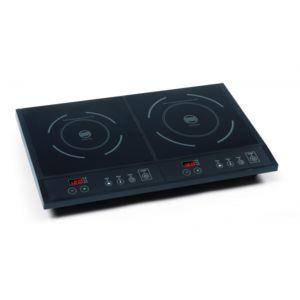domo double plaque de cuisson induction type domino feux 1600 et 1800w achat plaque de. Black Bedroom Furniture Sets. Home Design Ideas