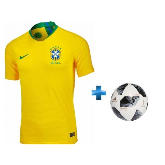 e8caf49e7a Nike - Pack Maillot de Football Match Brésil XL + Ballon World Cup ...