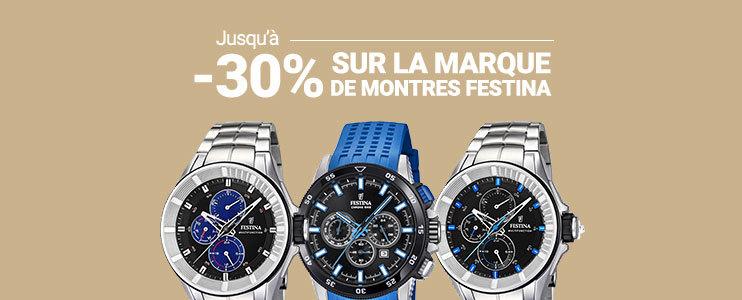 Jusqu'à -30% sur la marque de montres Festina