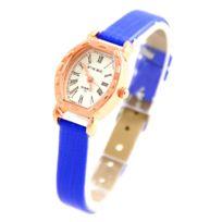 Vintage - Montre Femme Cuir Bleu 786