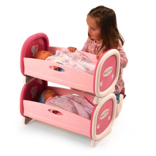 Smoby Lits Jumeaux Pour Poupées Baby Nurse Pas Cher Achat - Lit jumeaux pas cher