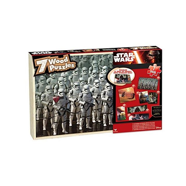 Star Wars Episode Vii Wood Puzzle 7 Pack by Cardinal