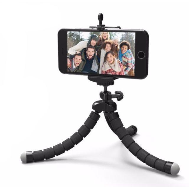 Mini Trepied avec Telecommande pour Samsung Galaxy S7 Smartphone Android  Ios Reglable Sans Fil Bluetooth Bouton